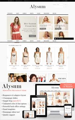 Alysum - Responsive Premium PrestaShop Themes