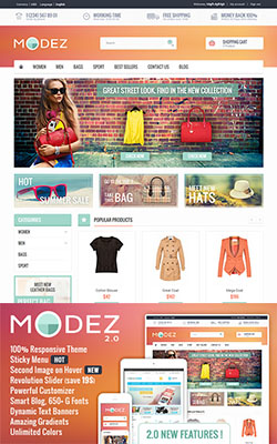 MODEZ - Responsive Premium Prestashop Themes