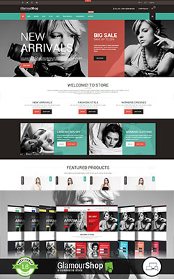 GlamourShop Responsive Premium Prestashop Themes