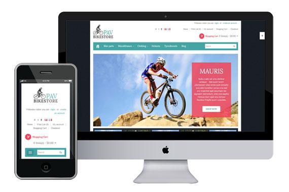PavBikestore free responsive opencart templates