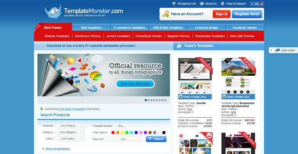 website templates web templates template monster themes