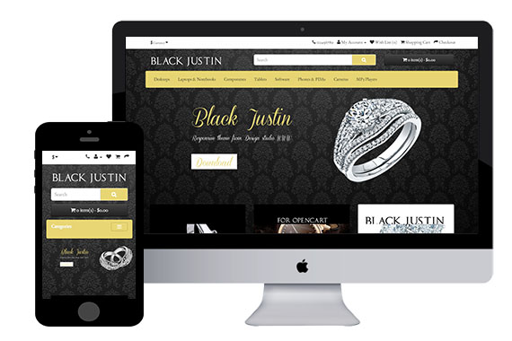 BlackJustin4 – Free Responsive OpenCart Theme