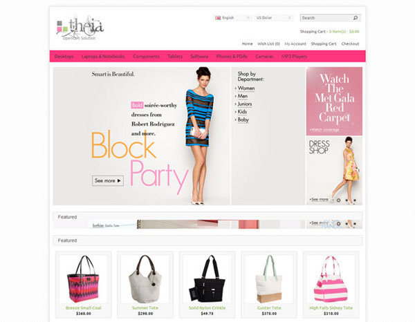 Free Opencart Themes : Fashion, Beauty, Shoes, Handbag, Clothes ...