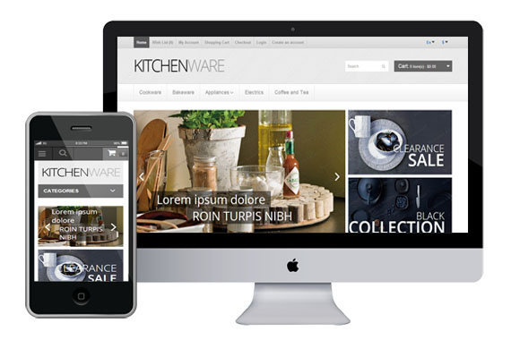 kitchenware free responsive opencart templates themes
