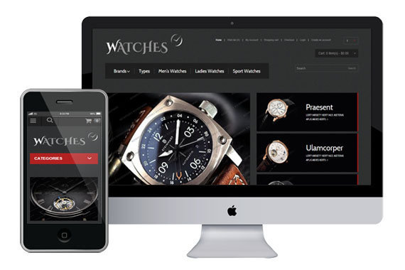 watches free responsive opencart themes themes