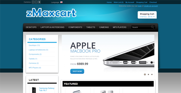 Free Opencart Themes : Technology, Electronics, Camera, Tools…