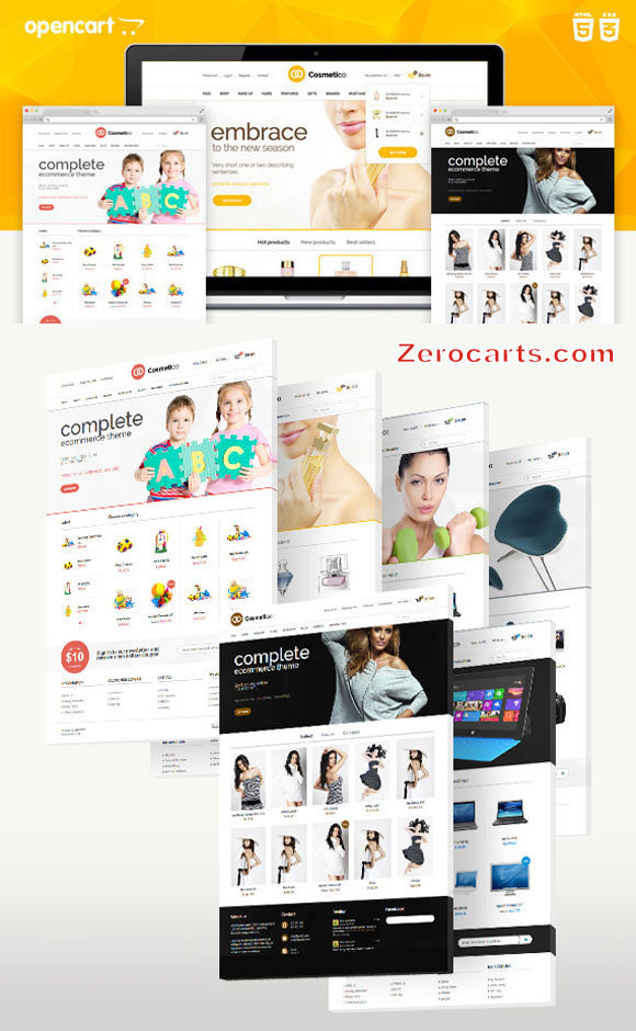 Cosmetico - Responsive OpenCart Template templates