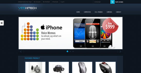 18+ Free Magento Themes : Technology, Electronis, Camera, Mobiles ...