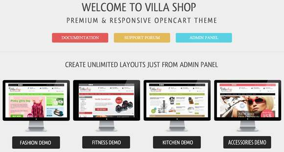 Villa Shop - Premium Opencart Theme templates