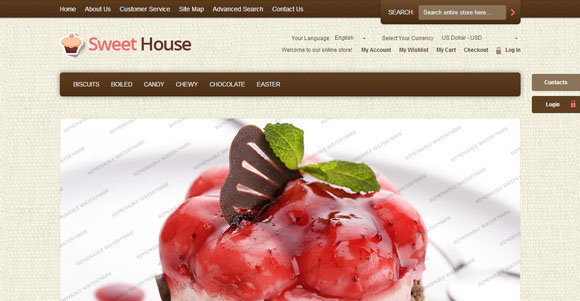 8+ Free Magento Themes : Restaurant, Food, Drink, Wine, Cake, Break ...