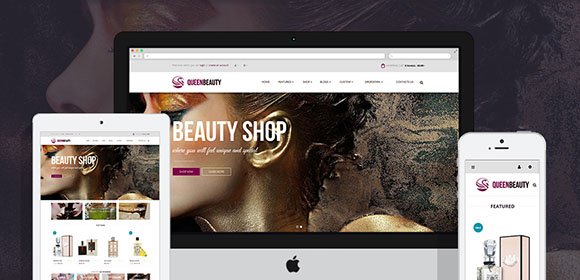 Pav-QueenBeauty Free Opencart Themes
