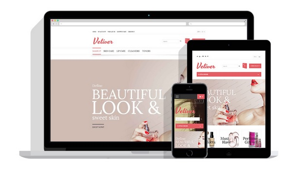 Vetiver free responsive opencart template