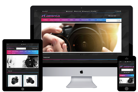 zCamera free opencart themes and responsive templates
