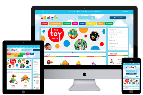 zBaby - Free Baby Toy Opencart Template