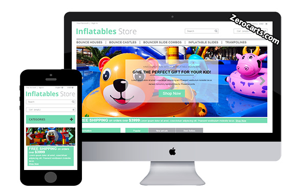 Inflatables - Free Prestashop Theme