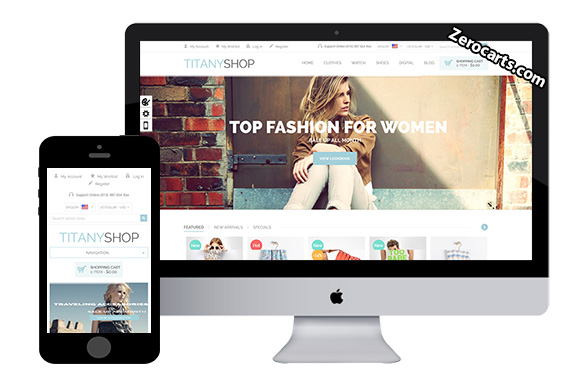 Titany - Free Clother Magento Theme
