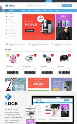 Edge – Responsive Multipurpose Magento Template