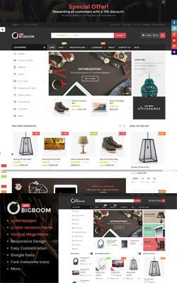 Bigboom – MultiStore Responsive Magento Themes