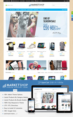 MarketShop – Multi-Purpose Premium OpenCart Theme