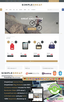 SimpleGreat - Responsive Prestashop Theme