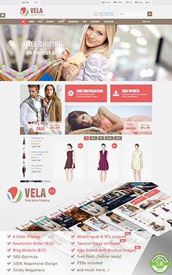 Vela - Responsive Prestashop Theme