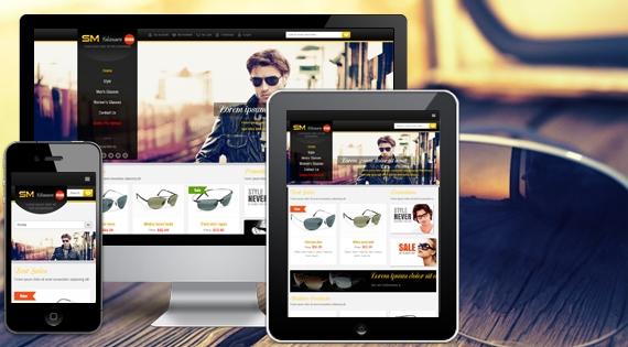 sm glasses quality responsive magento templates