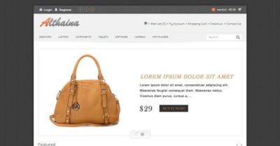 Althaina – Free Bag Opencart Theme