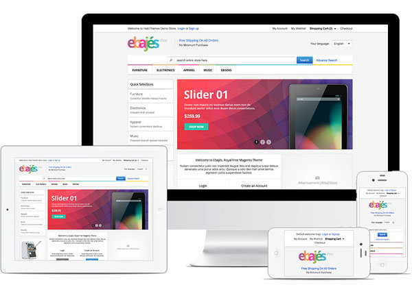 Free Responsive Electronics Magento Template
