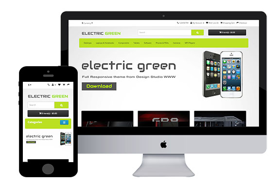 electric free responsive opencart theme thujb