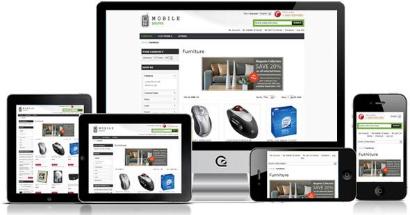 Mobile Shoppe - Free Responsive Magento Templates