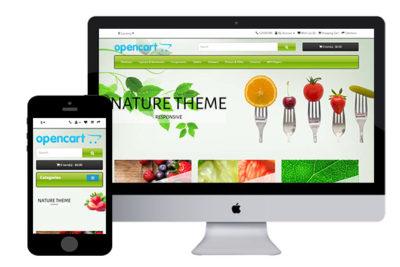 Nature – Free Responsive OpenCart Theme
