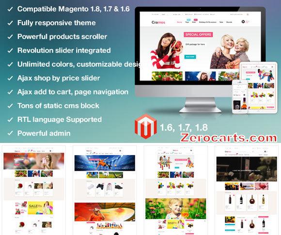 MT Cramos multipurpose responsive magento theme templates