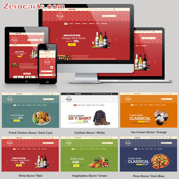 Pizziie - Responsive Multipurpose Magento Theme templates