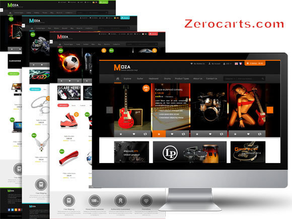 SM Moza - Responsive Multi-Store Magento Theme templates