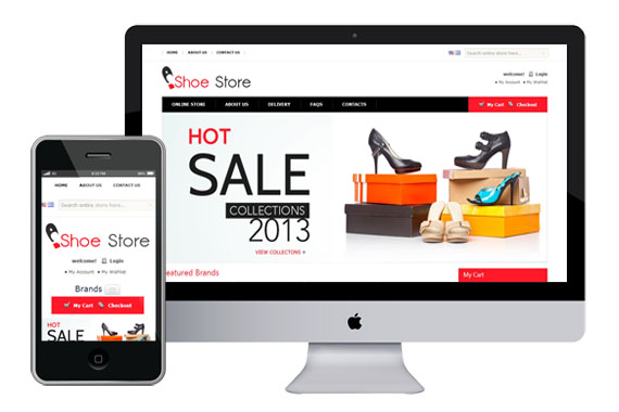 Shoes Store - Free Responsive Magento Themes
