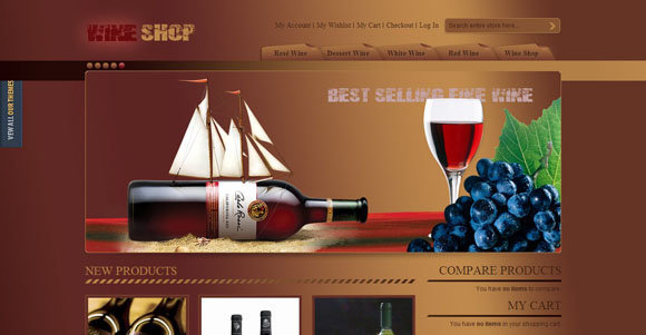 8 free food and drink magento themes wine shop free magento templates pronofoot35fo Gallery