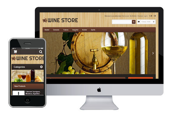 Wine Store - Free Responsive Bootstrap Magento Template