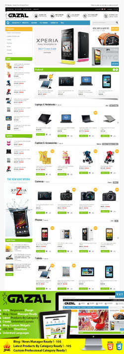 17 premium technology opencart themes and templates