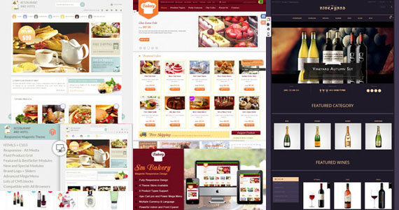 premium food and drink magento themes templates