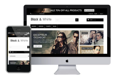 BlackWhite – Free Prestashop Themes