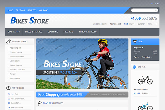 bike-store-free-prestashop-template