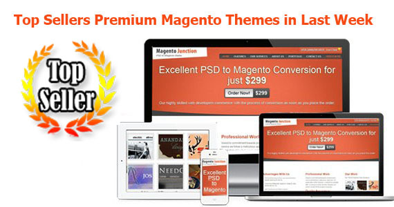 Top Sellers Premium Magento Themes in Last Week