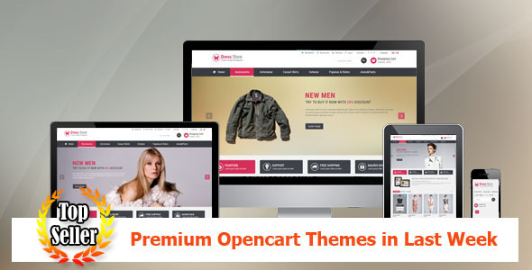 Top Sellers Premium Opencart Themes in Last Week