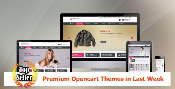 Top Sellers Premium Opencart Themes in Last Week