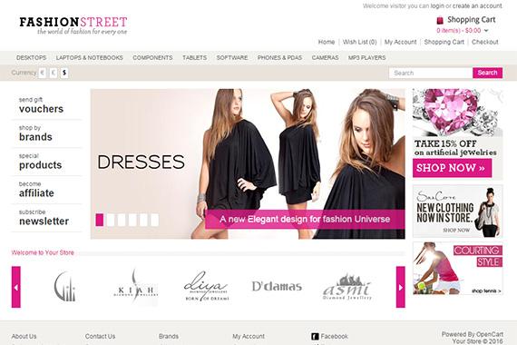 FashionStreet Free Opencart Themes