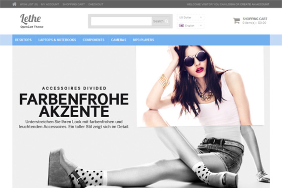 Lethe Free Opencart Themes
