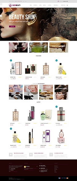 Pavo Queenbeauty free responsive opencart theme