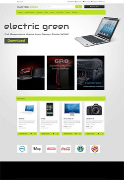 Electric Free Responsive Opencart Theme