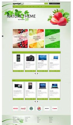 nature free responsive opencart theme