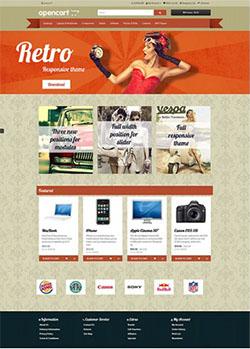 retro free opencart theme